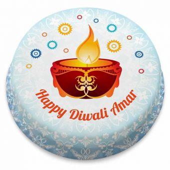 Diwali Diya Cake