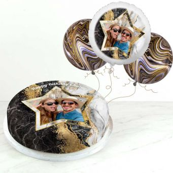 Black Marble Photo Gift Set