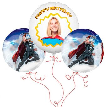 Thor Photo Balloon Bouquet