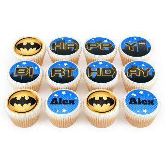 12 Batman Cupcakes