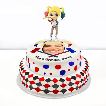 Harley Quinn Photo Cake