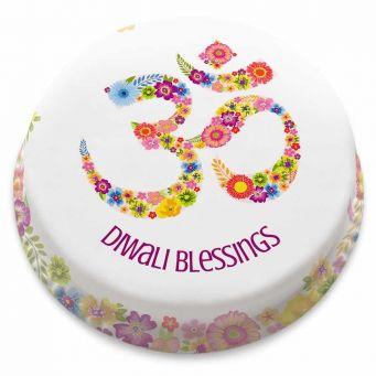 Floral Diwali Cake