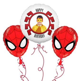 Spider-Man Photo Balloon Bouquet
