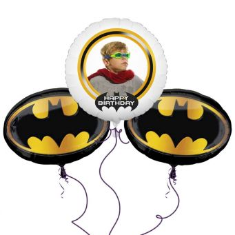 Batman Crest Balloon Bouquet