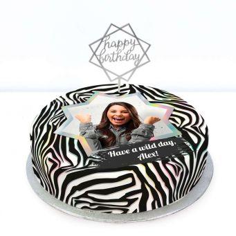Zebra Photo Cake