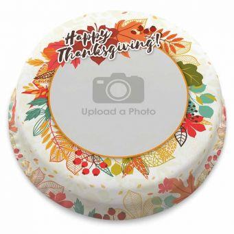 Thanksgiving Leaves Cake