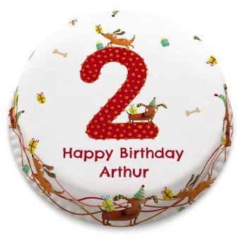 2nd Birthday Animal Cake