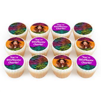 12 Neon Tiger Cupcakes