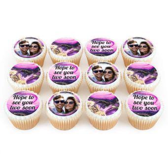 12 Purple Marble Cupcakes