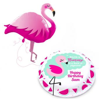 Jumbo Flamingo Gift Set