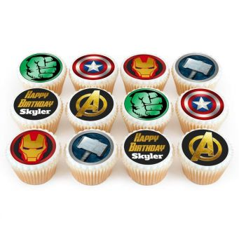 12 Avengers Cupcakes