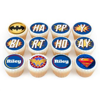 12 Justice League Cupcakes
