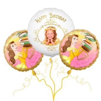 Disney Belle Photo Balloon Bouquet