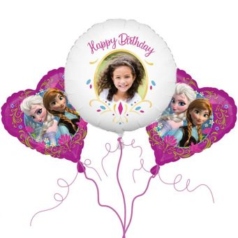Frozen Anna Photo Balloon Bouquet