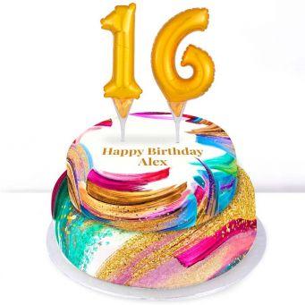 16th Birthday Paint Cake