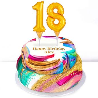 18th Birthday Paint Cake