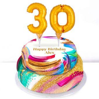 30th Birthday Paint Cake