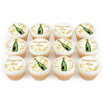 12 Champagne Cupcakes