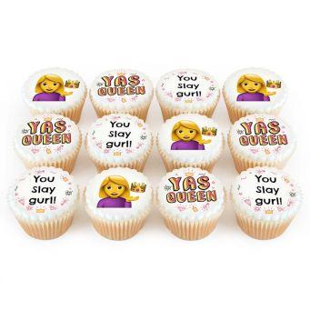 12 Yas Queen Cupcakes