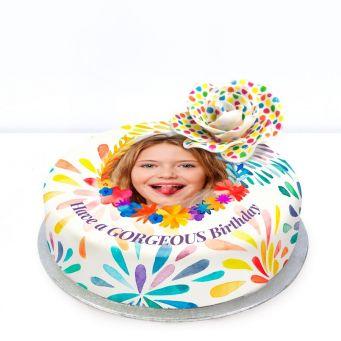 Polka Dot Flower Cake