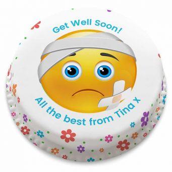Get Well Emoji Cake