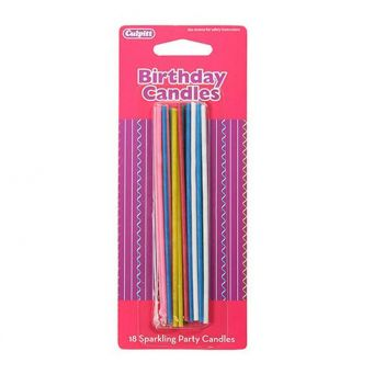 18 Sparkling Party Candles
