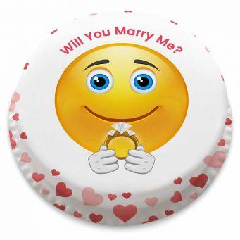 Marry Me Emoji Cake