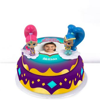Shimmer and Shine Tiered Cake