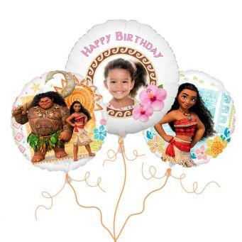 Disney Moana Photo Balloon Bouquet