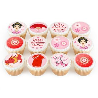 12 Mulan Themed Cupcakes