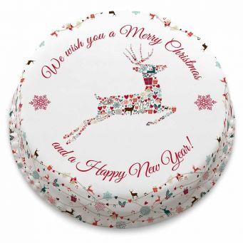 Reindeer Collage Cake
