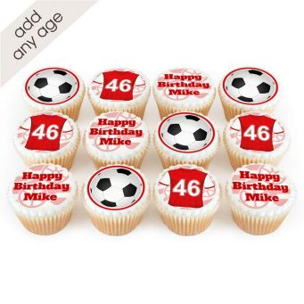 12 Arsenal Themed Cupcakes