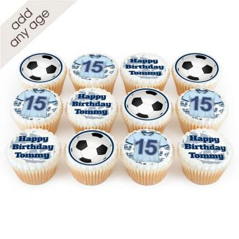 12 Manchester City Themed Cupcakes