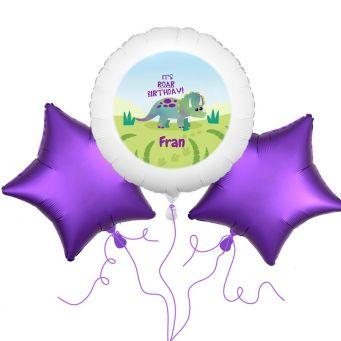 Triceratops Dinosaur Balloon Bouquet