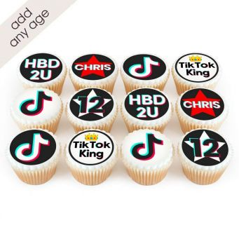 12 TikTok Themed King Cupcakes