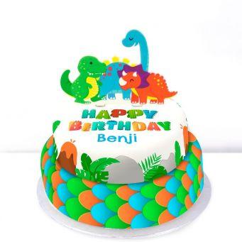Tiered Dinosaur Cake