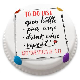 To Do List Cake