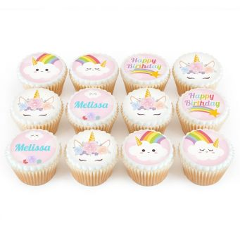 12 Unicorn Cloud Cupcakes