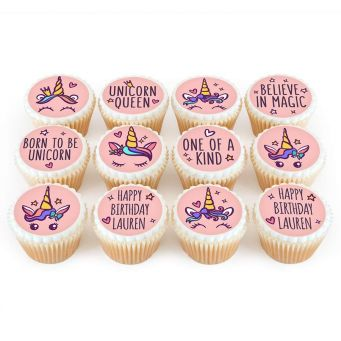 12 Born to be a Unicorn Cupcakes