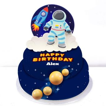 Astronaut Tiered Cake