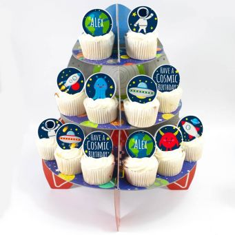 12 Astronaut Cupcakes Tower