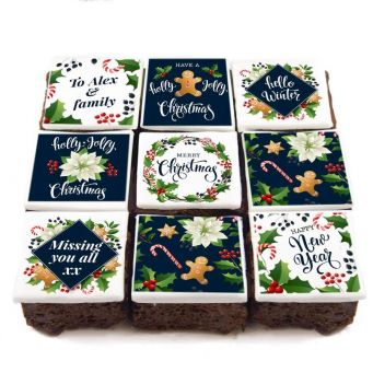9 Holly Jolly Brownies
