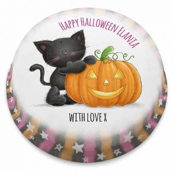 Cute Halloween Kitty Cake