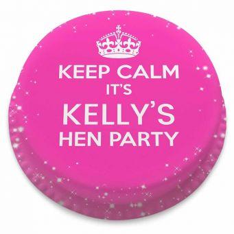 Keep Calm Hen Cake