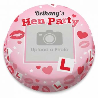 Pink L Plate Photo Cake