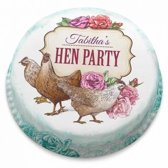 Floral Hens Cake