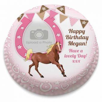 Horse Shoe Photo Cake