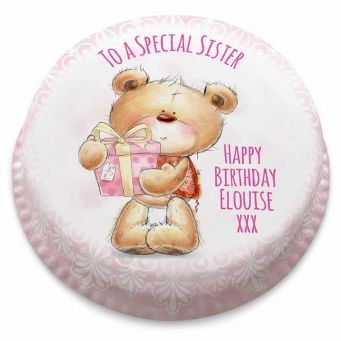 Pretty Pink Ted Cake