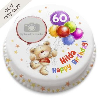 Any Age Ted Balloons Cake