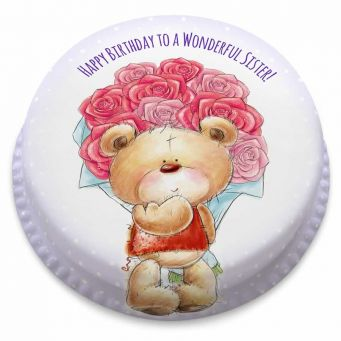 Bunch of Roses Ted Cake